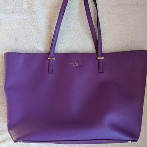 Kate Spade Large Purple Leather Tote